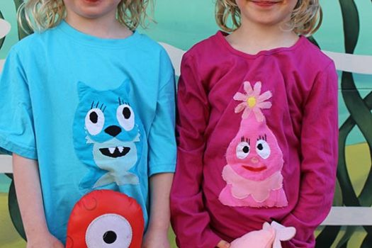 Sew Gabba Gabba Shirts In 5 Steps