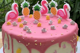 Making Birthday Parties Easy with Coles' Vanilla Pink Drip Cake