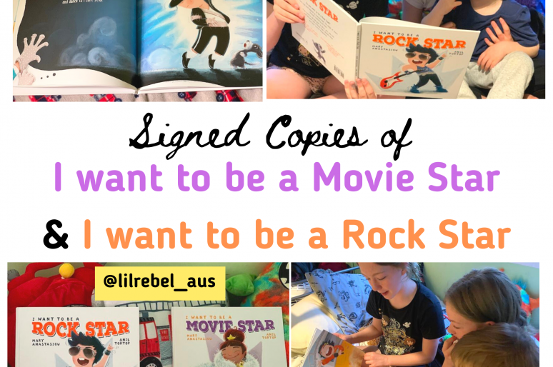 WIN: I Want to be a Movie Star & Rock Star Books