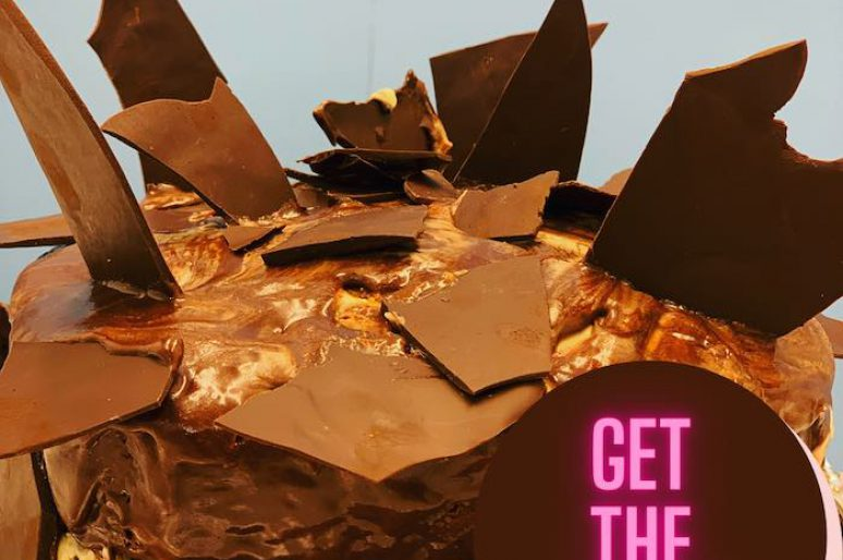 Marble Dark Chocolate Cake